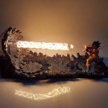 Dragon Ball Z figura de acción Son Goku Triple Kaiouken DIY LED luz Anime Goku de Dragon Ball Super Kamehameha ataque modelo DIY186