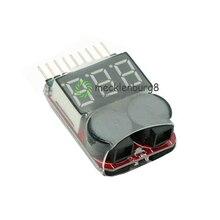 S для 1-8 S Lipo/li-ion/Fe напряжение батареи 2в1 индикатор тестер низкого напряжения Звуковой сигнал для RC автомобилей светодиодный ЛОДКА B 3,7-30 в n