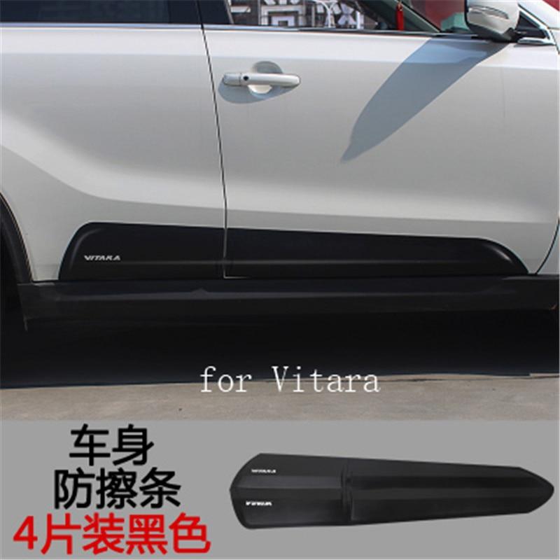 Version européenne du corps ABS anti-frottement des moulures latérales du corps décoration de porte latérale pour 2015-2018 Suzuki Vitara