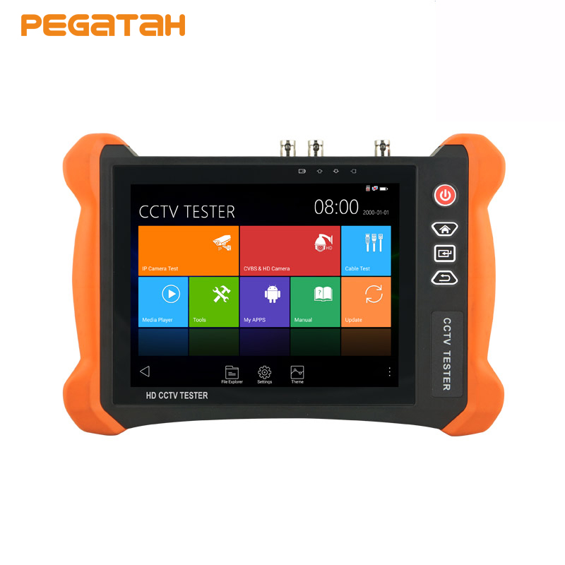 8 inch 2K Touch screen H.265 8MP IP Camera tester AHD TVI CVI SDI CVBS 6 in one CCTV Camera Tester Cable tracer 4K output title=