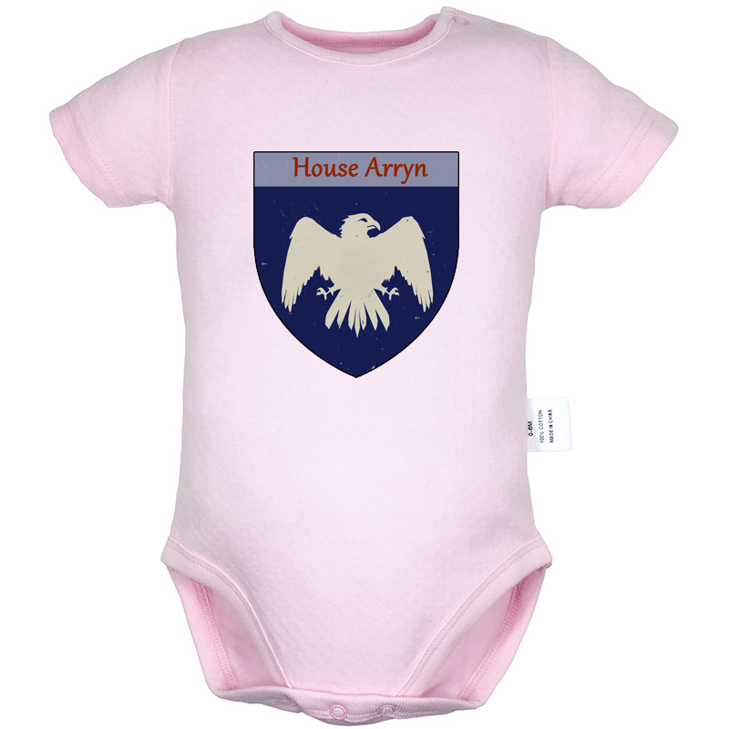 Eagle Game Of Thrones House Arryn As High As Honor Gray Design Newborn Baby Bodysuit Suit Toddler Onsies Jumpsuit Cotton Clothes