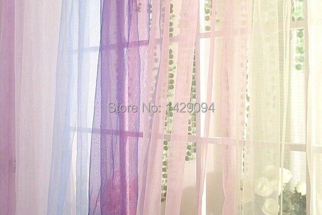 Aliexpress.com : Buy Colorful sheer curtain panel organdy yarn ...