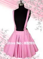 Free Shipping Top Sale Cotton Lolita Skirt With Suspender Skirt Style To School for Girl