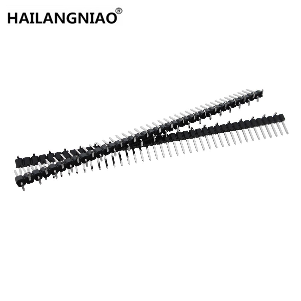 aliexpress com   buy 10pcs 2 54mm 0 100 u0026quot  single row 1x40 p 40 pin header male smt smd mount pcb