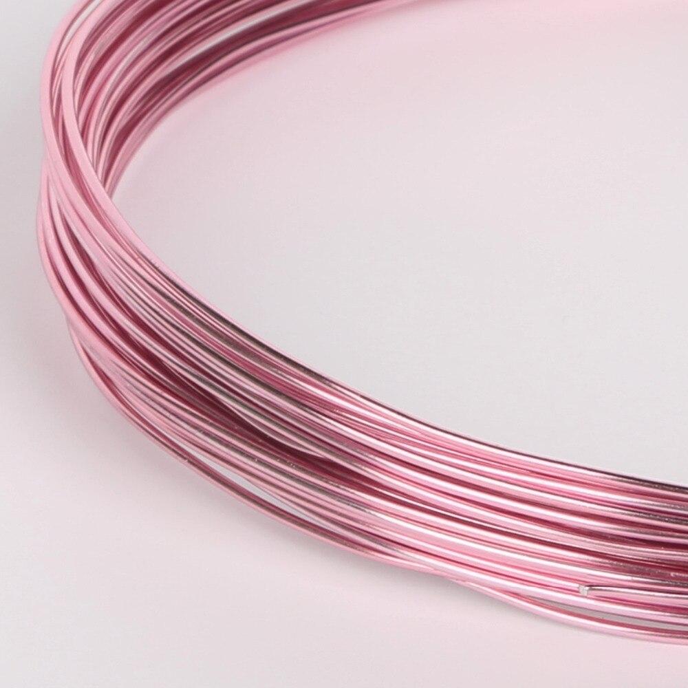 3 10M Pink Dia 1/1.5/2/2.5mm Anodized Aluminum Round Soft Craft ...
