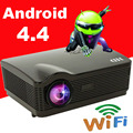 Новейшие ATCO Android 4.4 система Встроенного wi-fi цифровой 3D LCD ТВ 1080 P Проектор full hd led проекторы проектор для дома театр, КТВ
