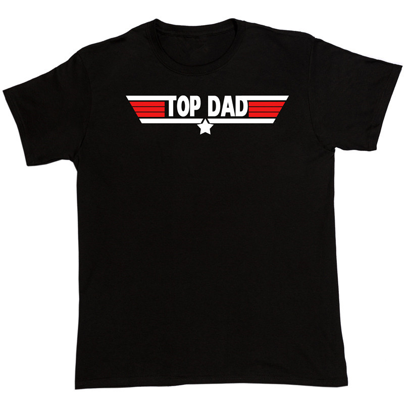 T Shirt Design Template Novelty Short Top Dad Fathers Day Birthday Gift Top Gun Present Christmas O-Neck Tees For Men