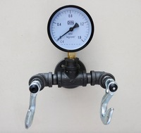 Creative steam style heavy industrial pressure table wall hook