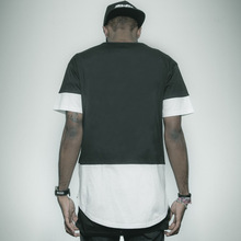100%Cotton Streetwear Men Patchwork Hip Hop T-Shirts Casual Soild short sleeve funny t shirt Fashion Tops Tee tshirt BMTX56