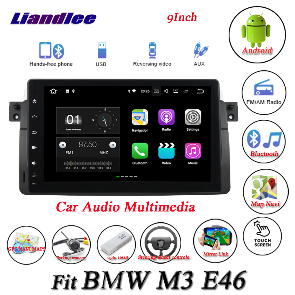 Liandlee Car Android System For BMW M3 E46 - Radio GPS Nav Navi MAP Navigation AUX IN Wifi HD Screen Multimedia NO CD DVD Player