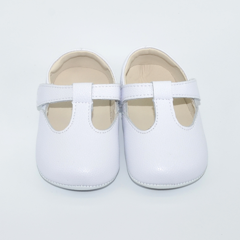 Baby Shoes Genuine Leather Newborn White Pink Blk Girls Infant Shoes Prewalkers Crib Shoes Nonslip T-strap Boutique 2019 Autumn