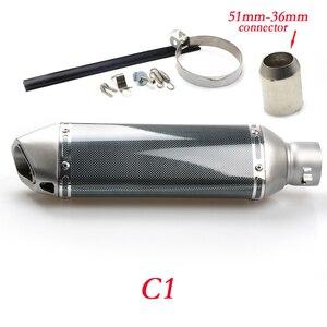 Image 4 - Moto 51 millimetri di scarico del silenziatore del tubo di Ingresso con db killer 36 millimetri connettore Per SUZUKI GSF Bandit 650 650S 1000 1200 1250 SV650