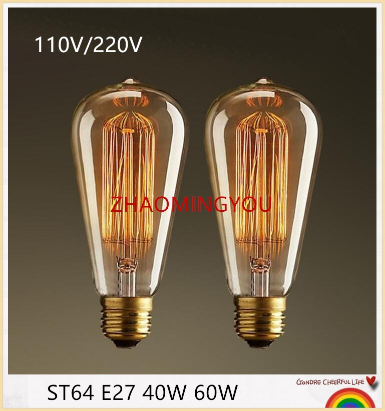 yon led bulb light ampoule vintage st64 e27 40w 60w led edison bulb 40w 60w lumiere led lamp. Black Bedroom Furniture Sets. Home Design Ideas