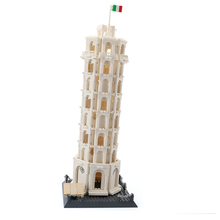 купить 1392pcs Building Blocks Toy Compatible legoingly Building Series Leaning Tower of Pisa Bricks Building Model Birthday дешево