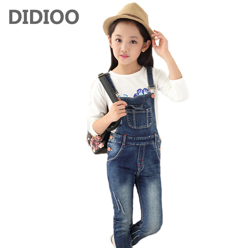 Big Girls Denim Overalls Autumn Fashion New Style Children Clothing Casual Kids Pants Solid High Quality Girl Denim Jeans 4-14Y сковорода d 22 см tima art granit at 1022