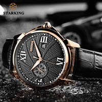 STARKING Watches Men Fashion Watch 2018 Black Luxury Steel Quartz Watch Sapphire Crystal Male Sport Wristwatch Relogio Masculino