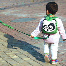 Cute Cartoon Shape Children School Bags Tether Anti-lost  Modeling Strap Schoolbag Backpack Kids
