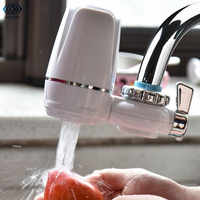 Purificateur d'eau du robinet robinet de cuisine lavable en céramique percolateur Mini filtre à eau Filtro rouille élimination des bactéries filtre de remplacement