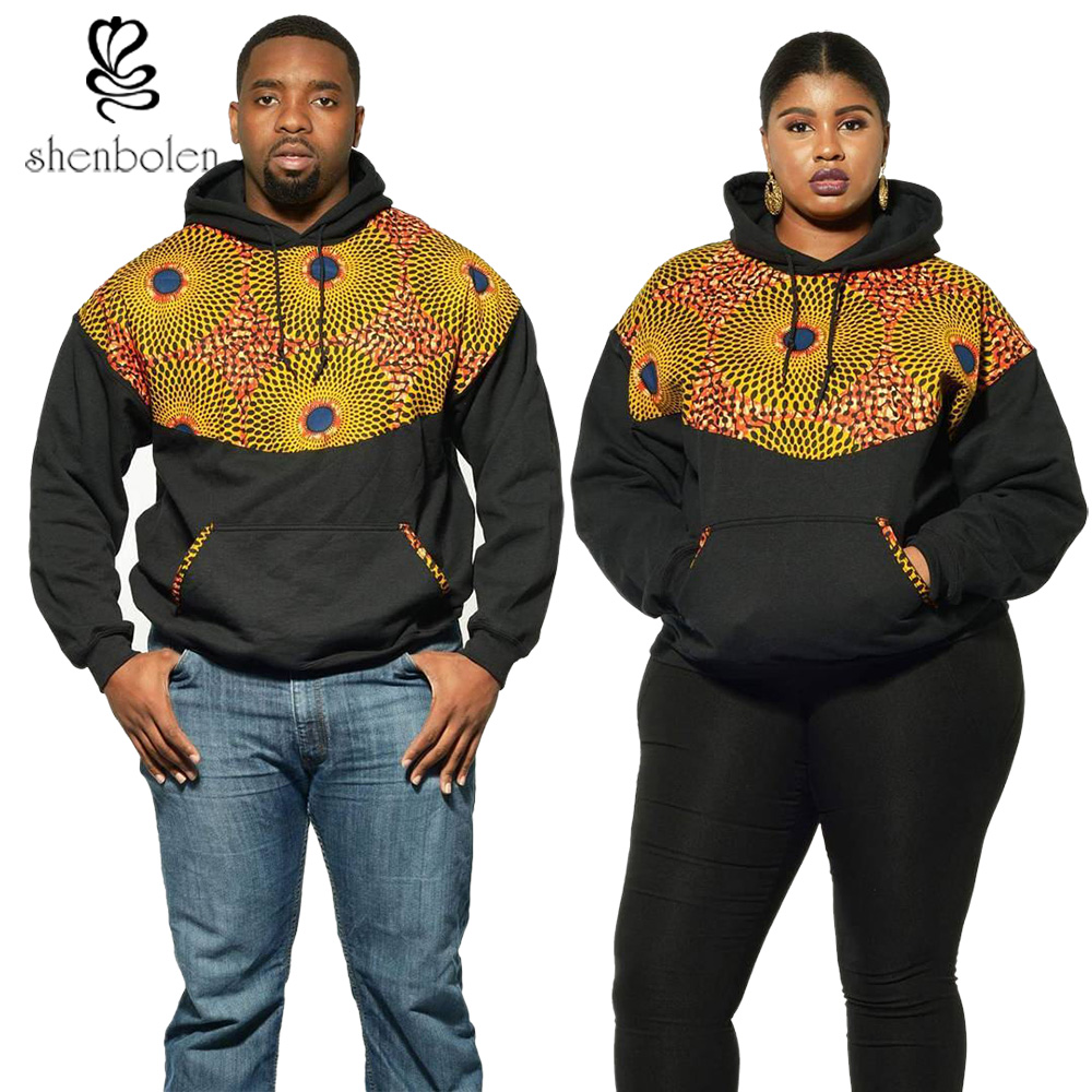 African Hoodies Sweatshirt Ankara Batik Stitching Sewing High Quality Suitable For Men And Women Casual Fashion Style Hoodies