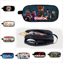 Game Roblox Pencil Bags Pen Case Kid School Stationery Multifunction Girls Makeup Bag Action Figures Toys Kids Christmas Gift(China)