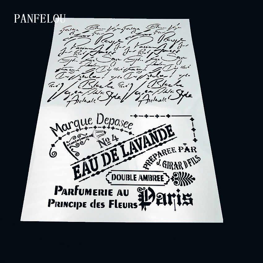 Văn bản B sổ lưu niệm stencils phun khuôn nhựa lá chắn TỰ LÀM bánh rỗng Chỉnh Trang in ấn ren thước valentine