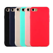 Candy Color Soft Phone Cases for iPhone 6 6s 7 7 Plus 8 Soft Case Fitted Cases For iPhone 6 6s 7 7 Plus 8 Protection Cover cheap Plain SQUISHY Dirt-resistant Anti-knock Apple iPhones for iphone 7 for iphone 7 Plus for iphone 8