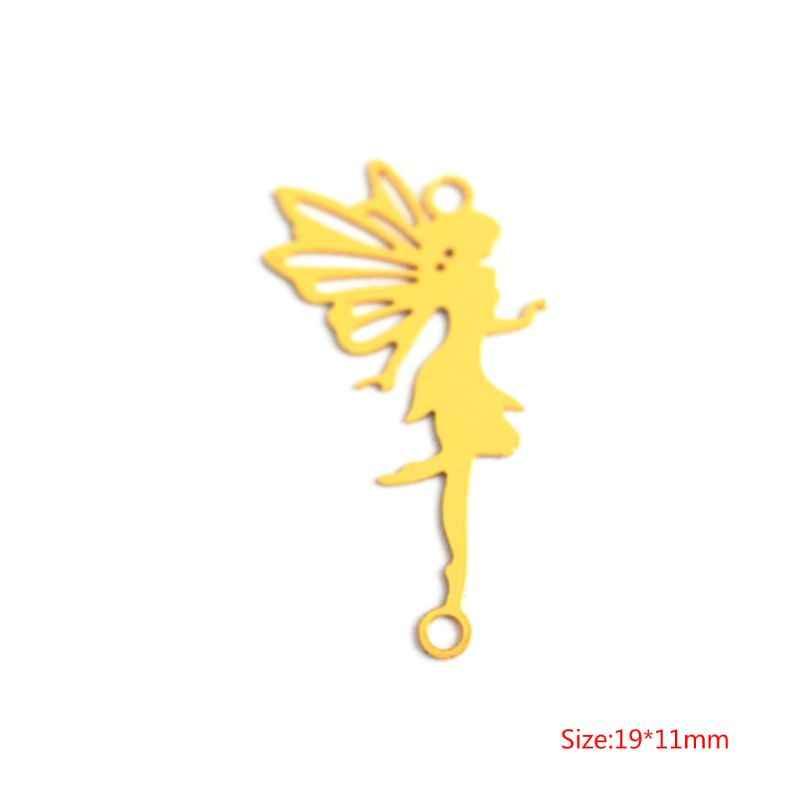 DIY машина для наполнения медная декорация эпоксидная смола, форма для изготовления украшений ожерелья подвеска Золотая Фея Женская Леди Летающая W2952001
