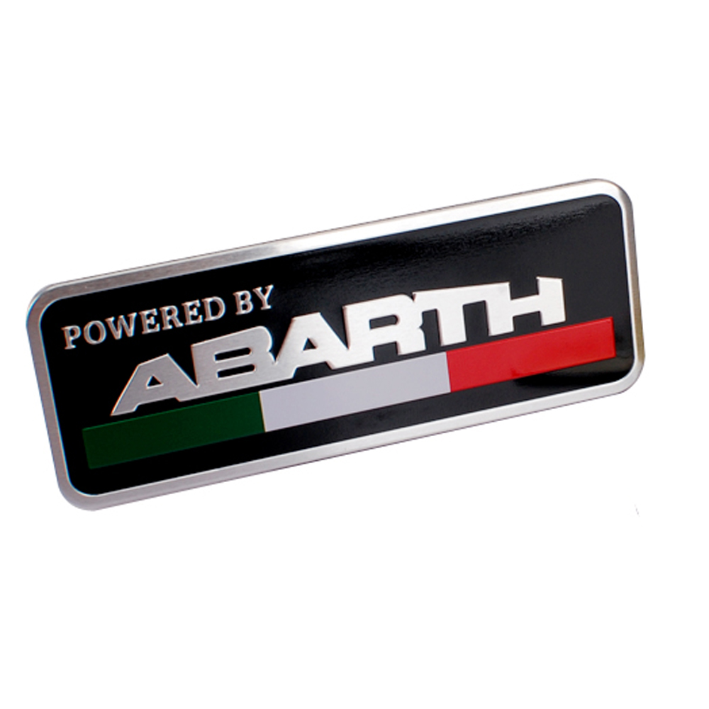 Car styling metal emblem badge door decal auto accessories for abarth 595 500 695 fiat 500 124 131 124 spider punto 1000 204a in car stickers from