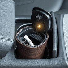 Vehicle ashtray With LED lamp Solar energy Automotive ashtray Ashbox Vehicle garbage can High-end supplies(China)