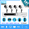 Free Shipping 8 Channel Full AHD 960H Dvr Security System 4 Pcs 700tvl Outdoor Waterproof Video