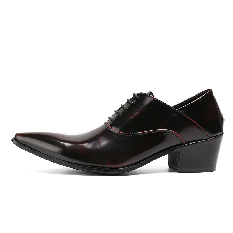 US $63.36 36% OFF Christia Bella Mens Dress Shoes High Heels Leather Wedding Shoes Mens Formal Business Shoes Man Oxfords Shoes for Work Plus Size in