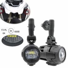 1 комплект для BMW F800GS, мотоциклетный светодиодный вспомогательный противотуманный светильник, монтажная лампа для вождения, 40 Вт, головной светильник, универсальный для BMW R1200GS/ADV