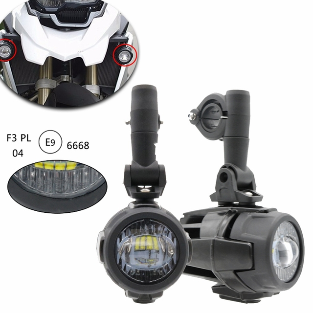 1 Set For BMW F800GS Motorcycle LED Auxiliary Fog Light Assemblie Driving Lamp 40W Headlight Universal For BMW R1200GS/ADV