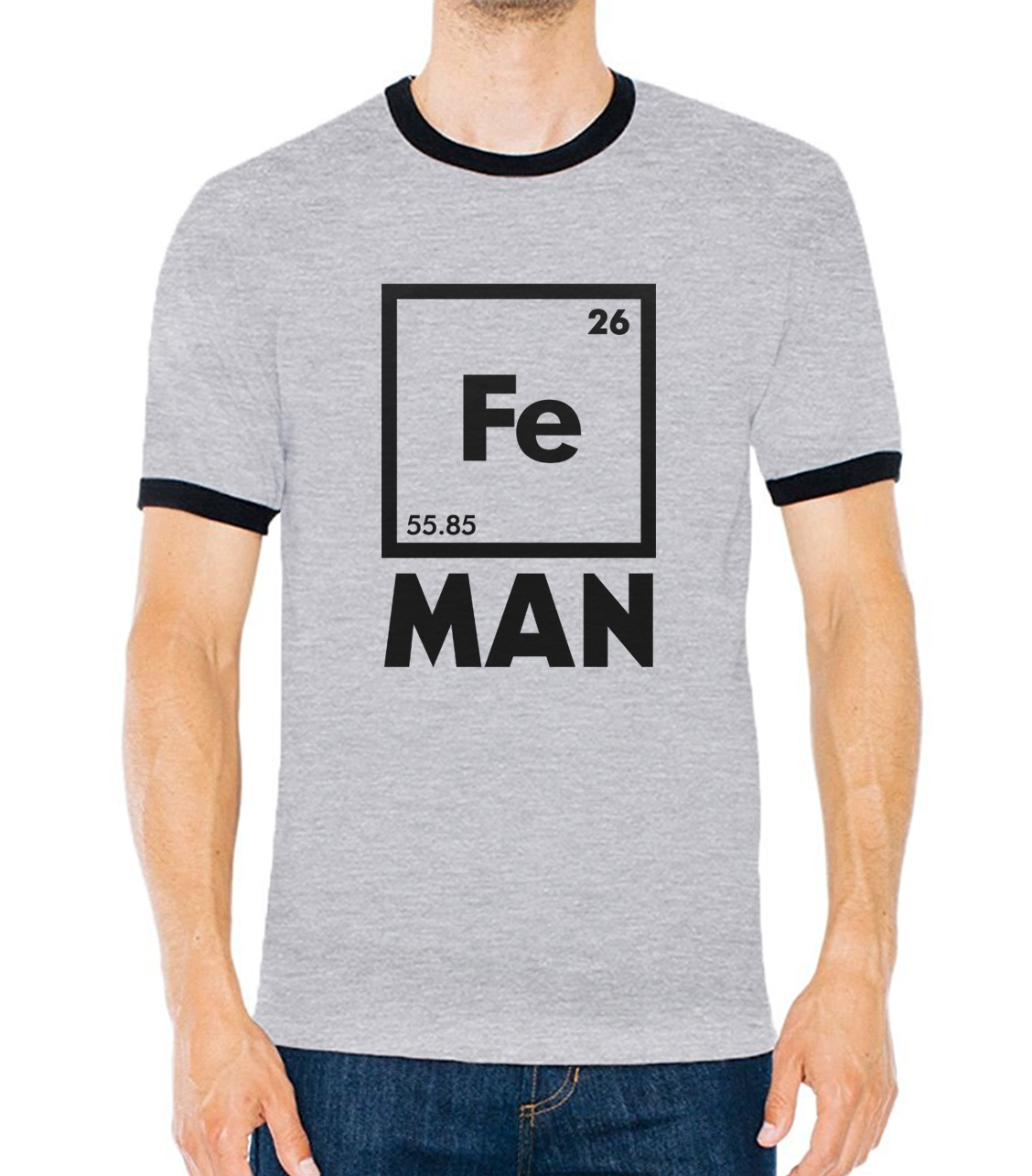 Table english pub table antique periodic table product on alibaba com - Iron Science Chemistry Fe Periodic Table T Shirts Contrast Collar Hit Color Camisetas Men 2017 Funny