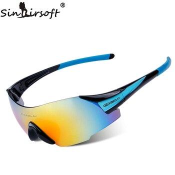 Gafas de ciclismo SINAIRSOFT SP0889 UV400 para deportes al aire libre, gafas de bicicleta MTB, gafas de sol para motocicleta, gafas sin marco