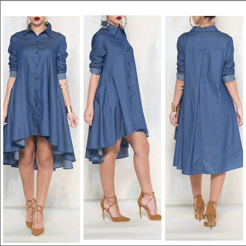50e40a2b154 new spring autumn women s dresses denim long shirts maternity dresses  pregnancy dresses maternity clothing 16823-in Dresses from Mother   Kids on  ...