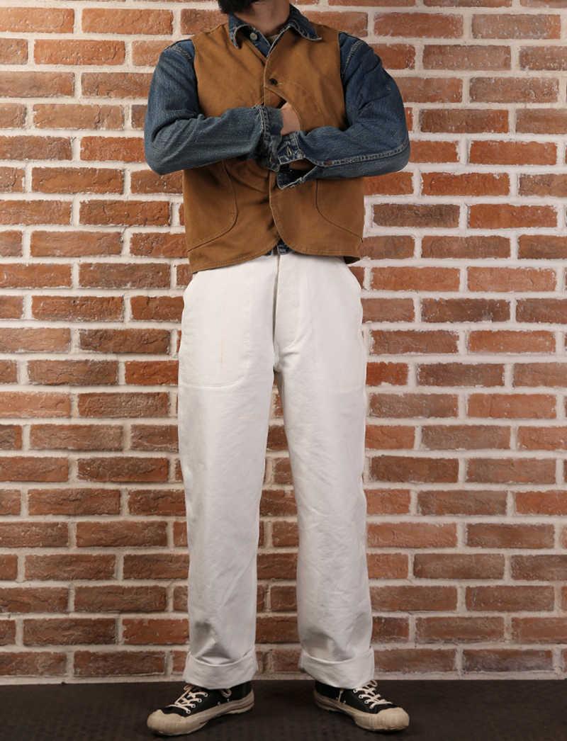 Olmayan stok ördek tuval oyunu cep yelek Vintage açık erkek avcı ceketi