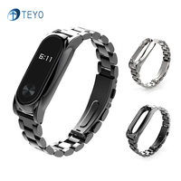 Teyo New Metal Strap Replacement Xiaomi Miband 2 Plus Smart Bracelet Accessories Xiao Miband2 Plus Srap