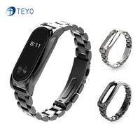 Teyo New Metal Strap Replacement Xiaomi Miband 2 Plus Smart Bracelet Accessories Xiao Miband2 Plus Srap