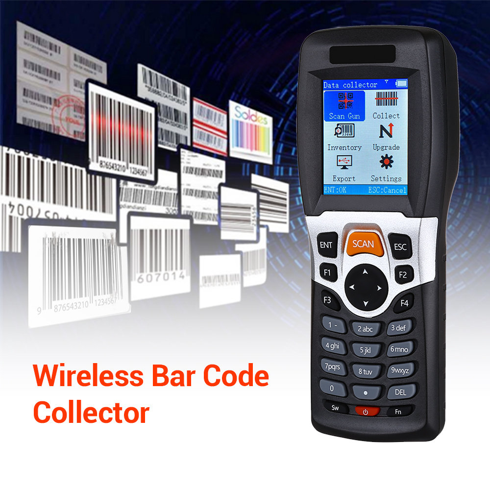 Wireless Barcode Scanner-Collector Inventory-Device Data-Terminal Tft-Color Portable
