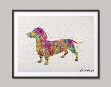Colorful Wiener Dog Print