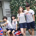 Family Matching Outfits - new Summer Striped short-sleeved Family Clothes Father & Mother & Boy&Girl  Clothes#1609113