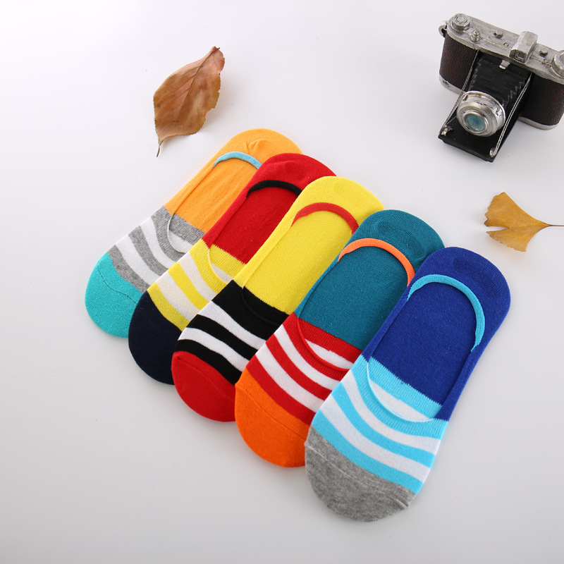 5pair/lot Men Invisible Sock Slippers Mens Cotton Socks Summer Male fashion