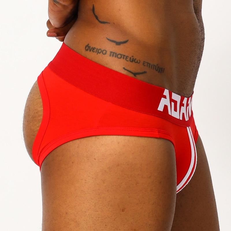 ADANNU Sxey Gay Men Thongs Underwear Breathable Men Underpants Jockstrap G String Thongs Briefs Jock Strap Lingerie AD129