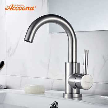 Accoona Basin Faucet Mixers Sink Tap Wall Small mini Basin Faucets Stainless steel 304 Modern Hot and Cold Water A9690-3 1