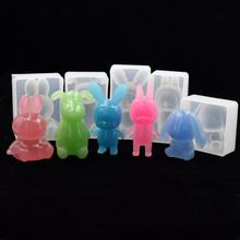SNASAN Resin Silicone Mold 3D animal baby rabbit Crafts handmade DIY Jewelry Making epoxy resin molds Mould