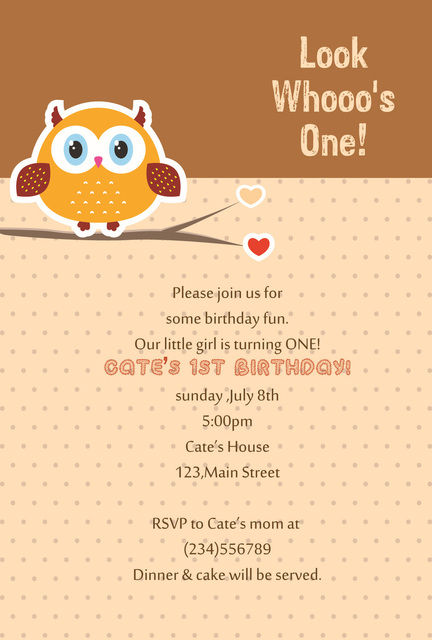 Free Shipping 8Piece Lot Personalized Kids Birthday Invitation Cards Customize Cute Owl Card Children Party