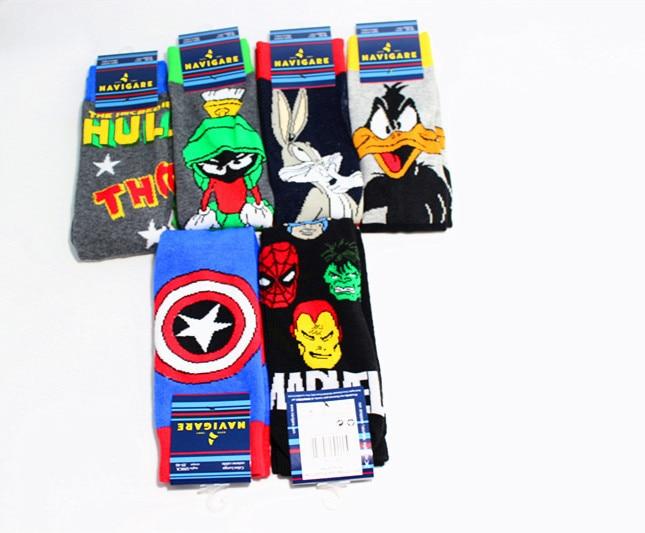 2ad69ebe7fa Building Toys Marvel Comics Hero General Socks cartoon Iron Man Captain  America Knee High Warm