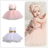 Mikrdoo Princess Kids Baby Girl Sleeveless Evening Tutu Tule Dress First Christening Clothes Formal Wedding Party