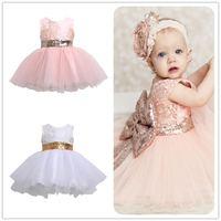 Mikrdoo Princess Kids Baby Girl Sleeveless Evening Tutu Tule Dress First Christening Clothes Formal Wedding Party